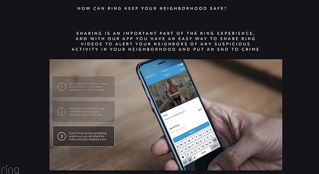 Ring home security firm told users to set up 'digital neighborhood watch' groups and report all suspicious activity to the police in exchange for free and discounted products